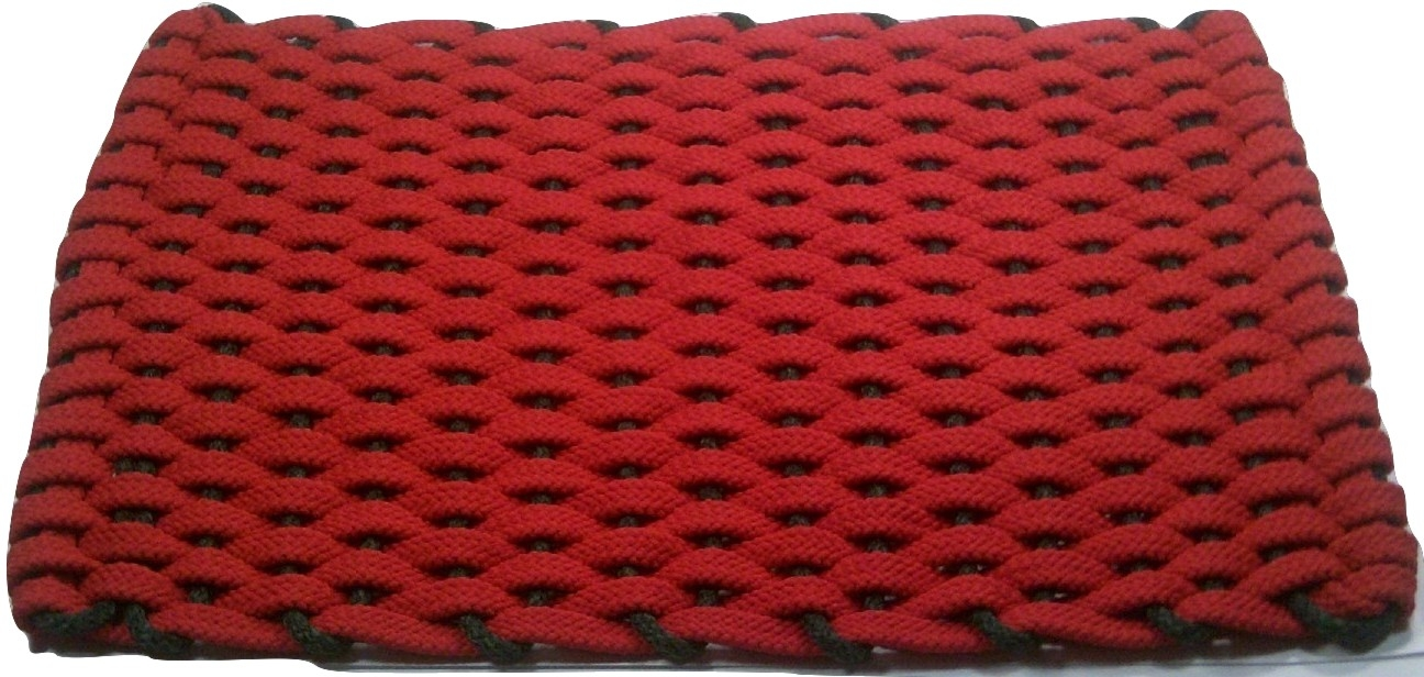Rockport Rope Mat Red Insert Green