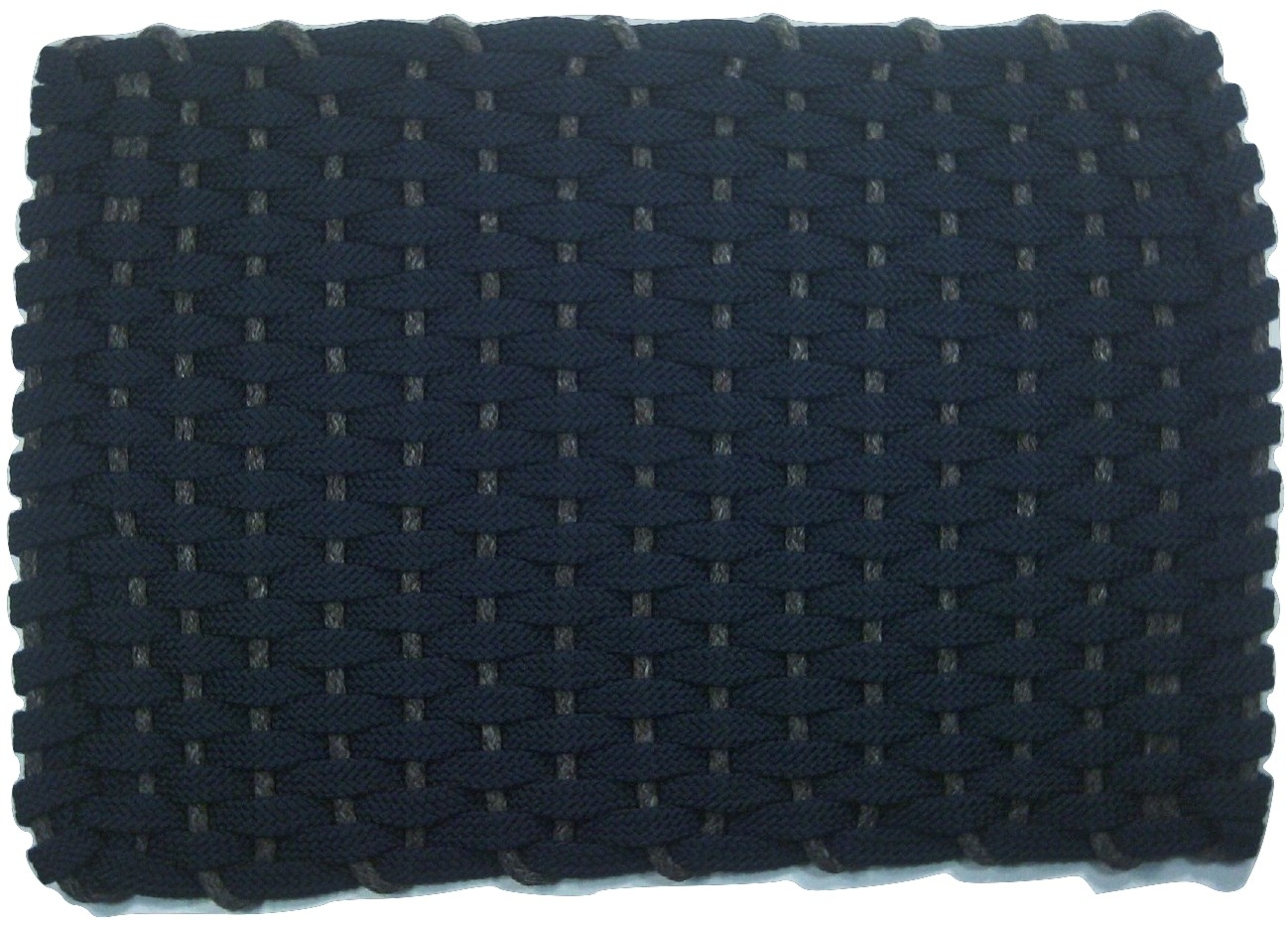 Rockport Rope Mat Navy Insert Brown
