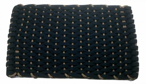 #304 Rockport Rope Kitchen Comfort Mat Navy Insert Tan