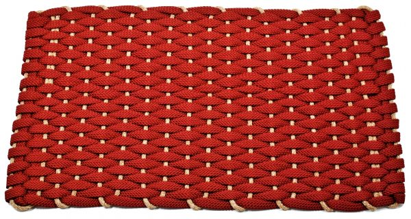 #353 Rockport Rope Kitchen Comfort MatRed Tan insert