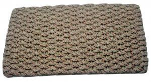 Rockport Rope Doormat Tan red specs tan insert