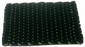 #377 Rockport Rope Mat Black Insert Tan