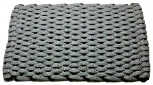 #381 Rockport Rope Door Mat Gray with Black insert
