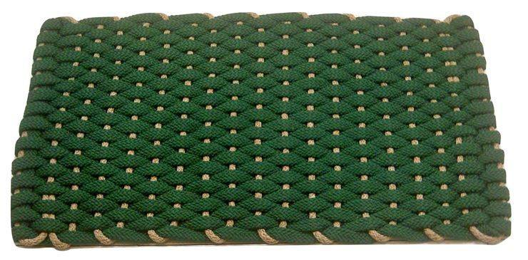 Rockport Rope Mat Green with Tan insert