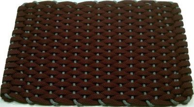 #287 Rockport Rope Kitchen Comfort Mat Wine Insert Gray