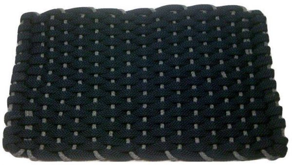 Rockport Rope Mat Navy Insert Gray