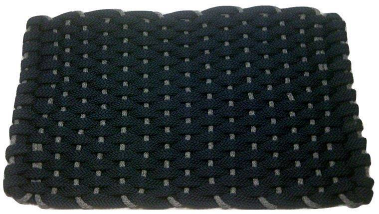 Rockport Rope Mat Navy Insert Gray