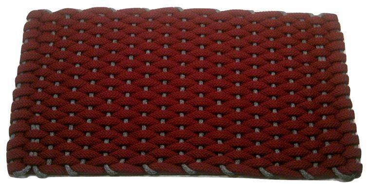 #354 Rockport Rope Kitchen Comfort Mat Red with Gray insert