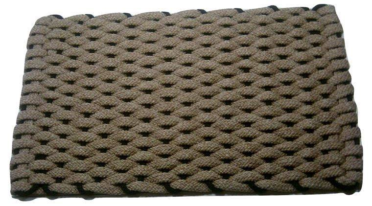 Rockport Rope Mat Tan Insert Black