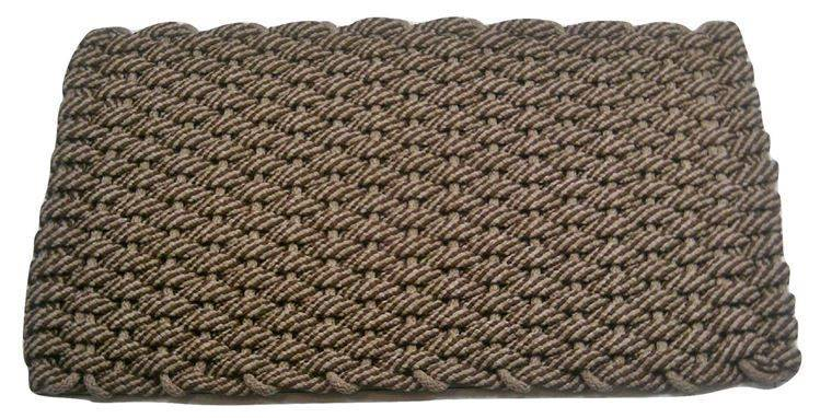 #426 Rockport Rope Mat 50 50 Brown Tan Insert Tan