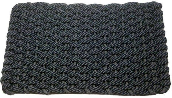 Rockport Rope Mat 50 50 Navy Gray Insert Gray