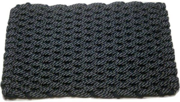 Rockport Rope Mat 50 50 Navy Gray Insert Navy