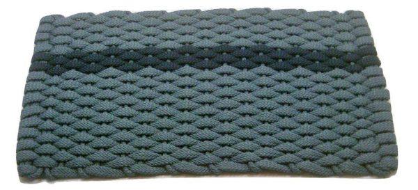Rockport Rope Mat Light Blue 1 Offset Navy Stripe