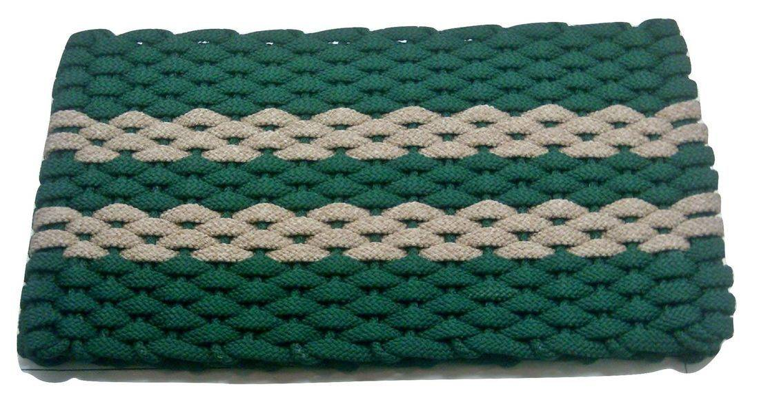 Rockport Rope Mat Green 2 Tan Stripes