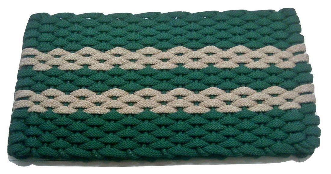 Rockport Rope Mat Green 2 Tan Stripes