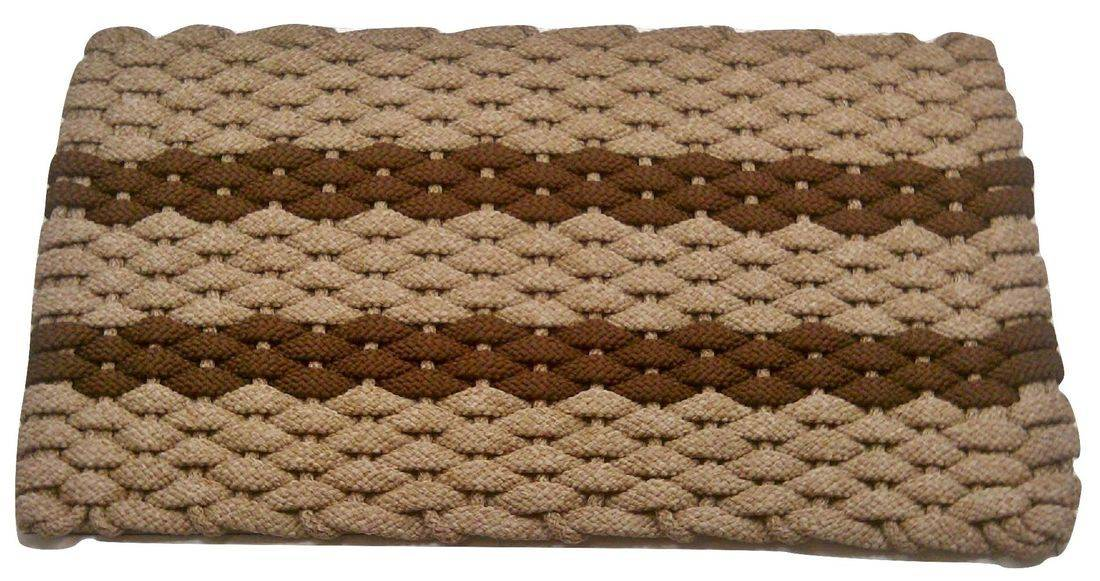 Rockport Rope Mat Tan 2 Brown Stripes