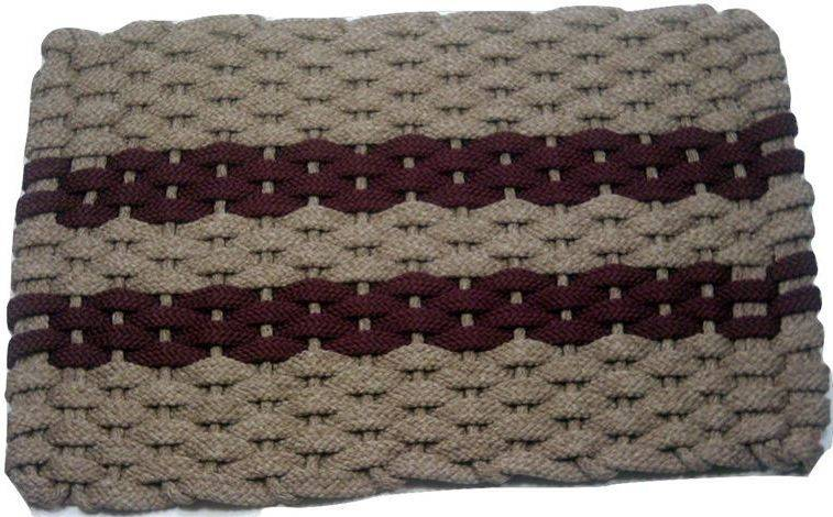 Rockport Rope Mat Tan 2 Wine Stripes