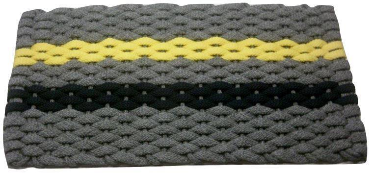 Rockport Rope Mat Gray 1 Stripe Yellow 1 Navy