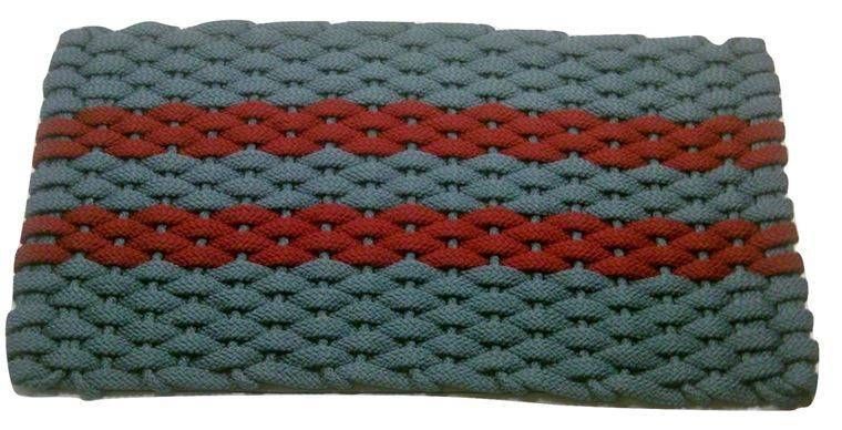 Rockport Rope Mat Light Blue 2 Red Stripes