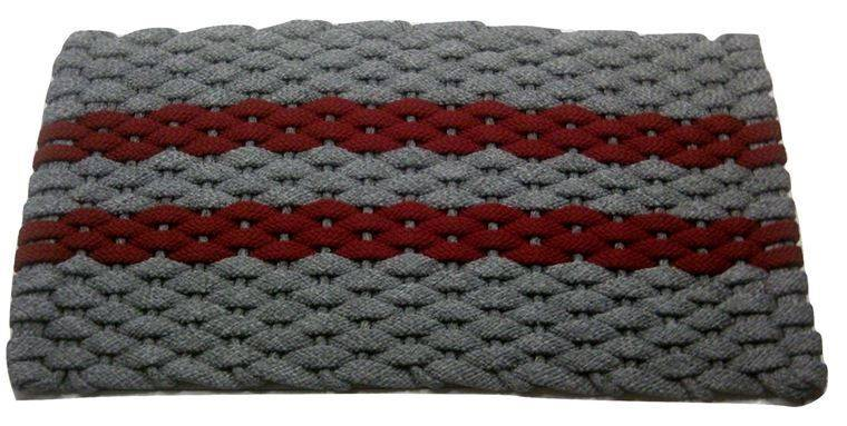 Rockport Rope Mat Gray 2 Red stripes