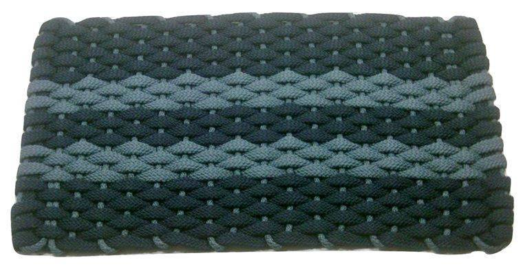 Rockport Rope Mat Navy 2 Light Blue Stripes Light Blue insert