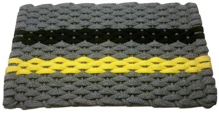 Rockport Rope Mat Gray 1 Yellow 1 Black Stripe