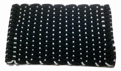 #300 Rockport Rope RV Mat Navy with White insert