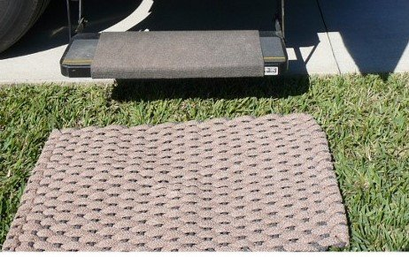 Rockport RV Mat Tan with Brown insert