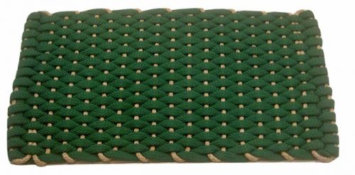 #204 Rockport Rope Door Mat Green with Tan insert