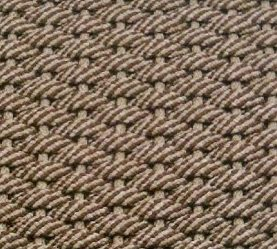 Doormat 50 50 Brown Tan with Tan insert