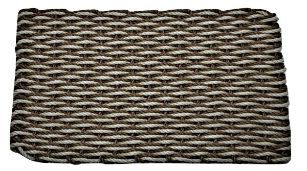 Rockport Lobster Pot Rope Doormat Tan/Brown wave
