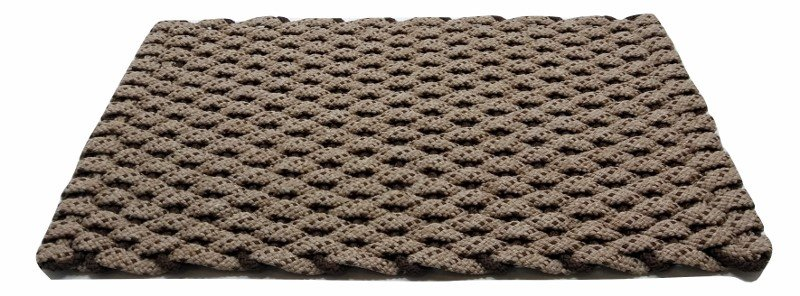 #225 Rockport Rope Mat Tan with Brown specs and Brown insert