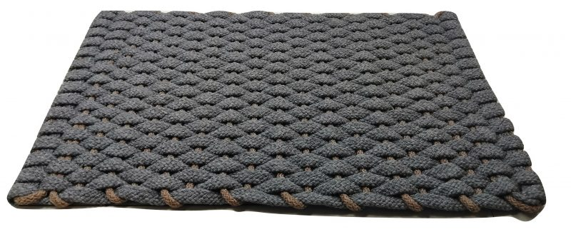#400 Rockport Rope Mat Gray with Tan insert.