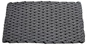 Rockport Rope Mat 50/50 Black/Gray with Black insert