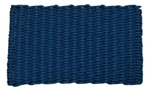 Lobster Pot Rope Doormat Navy
