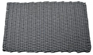 Lobster Pot Rope Doormat Gray