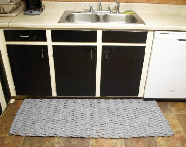 "Rockport Kitchen Comfort Mat 24"" x 60"" #400 Gray with Tan insert"