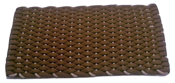 #201 Rockport Rope Door Mat Brown with Tan insert