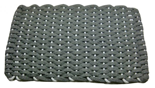 Rockport Rope Kitchen Comfort Mat Gray with White insert