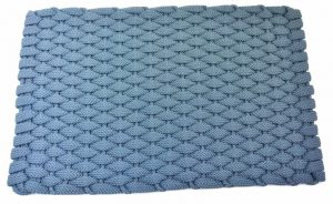 #241 Rockport Rope Door Mat Light Blue