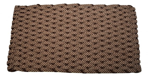 #269 Rockport Rope Door Mat 50/50 Brown/Tan with Brown insert