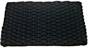 Rockport Rope Door Mat Navy with Brown insert