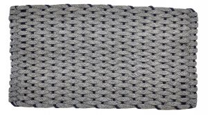 #306 Rockport Rope Mat Gray Navy insert