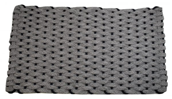 #306 Rockport Rope Mat Gray with Navy insert