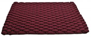 #307 Rockport Rope Door Mat Wine with Wine insert