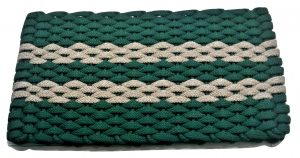 #310 Rockport Rope Mat Green 2 Tan Stripes