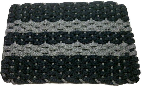 #313 Rockport Rope Mat Navy 2 Gray Stripes Gray insert