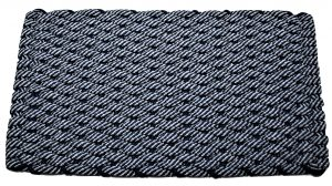 Rockport Rope Door Mat 50/50 Navy/Gray with Navy insert