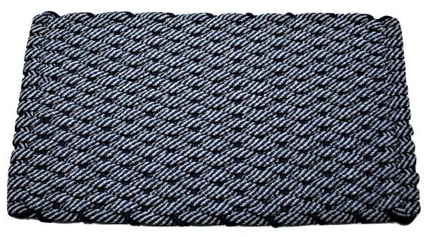 Rockport Rope Door Mat 50/50 Navy/Gray with Navy insert