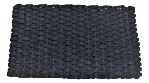Rockport Rope Door Mat Navy with Wine insert